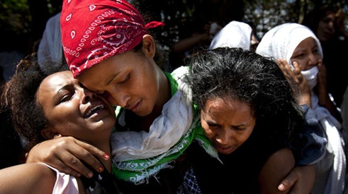 kampala bomb - ethiopian village