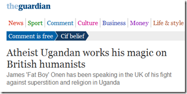 Atheist Ugandan works his magic on British humanists